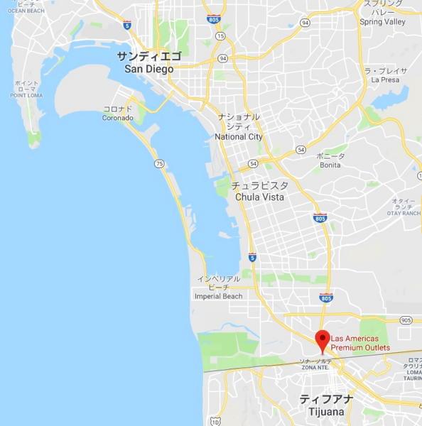 ラスアメリカス・プレミアム・アウトレットの地図