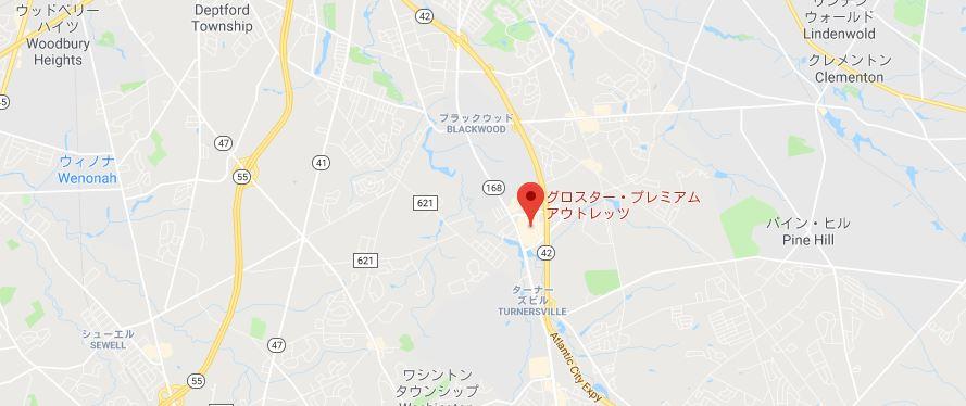 グロスター・プレミアム・アウトレット地図